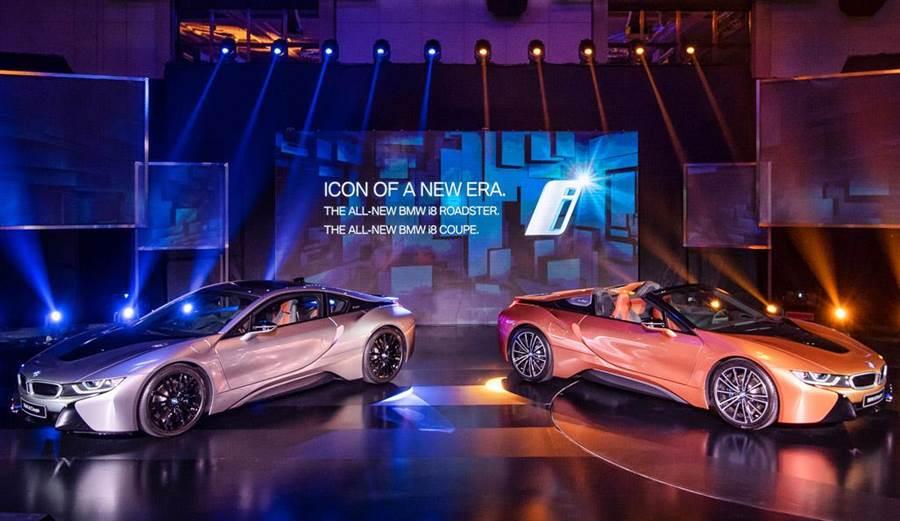 超跑的性能  小綿羊的油耗  BMW i8 Coupe/i8 Roadster 998萬/1068萬起演繹未來!
