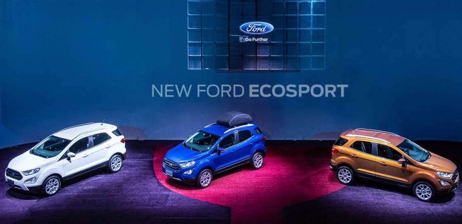 80萬以下同級唯一渦輪導入  Ford跨界輕休旅New EcoSport 69.9萬起上市